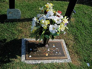 George Jones - Jones' grave in Nashville