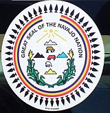 Great seal of Native American tribe Navaro in Monument Valley.jpg