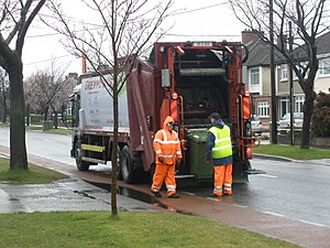 Recycling in the Republic of Ireland - Green bin collection in Dublin