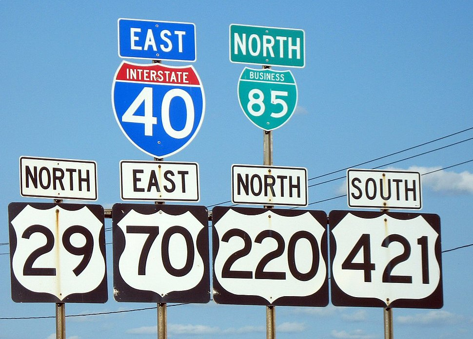 Greensboro road signs