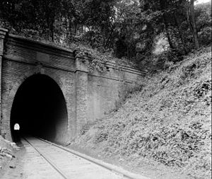 Blue Ridge Railroad (1849–70) - Greenwood Tunnel constructed by the Blue Ridge Railroad