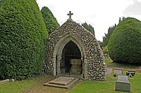 Grotto at St Mary's Church, Headley (Remains of Old Church) (Geograph Image 2225767 8ebdbdcc).jpg