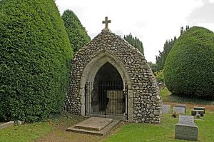 Headley, Surrey - Image: Grotto at St Mary's Church, Headley (Remains of Old Church) (Geograph Image 2225767 8ebdbdcc)
