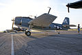 Grumman TBM-3E Avenger BuNo 91436 NL436GM LSide Dawn SNF 04April2014 (14585632102).jpg