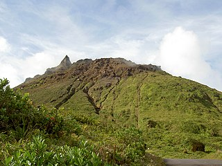 La Grande Soufrière active stratovolcano located on the French island of Basse-Terre, in Guadeloupe