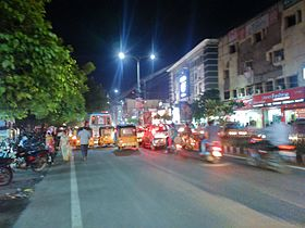 Guntur City Taluka Center Night.JPG