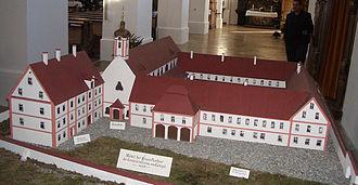 Gutenzell Abbey - Gutenzell Abbey in the 18th century (model)