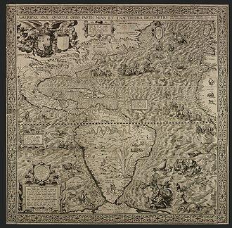 Americae Sive Quartae Orbis Partis Nova Et Exactissima Descriptio - The British Library copy