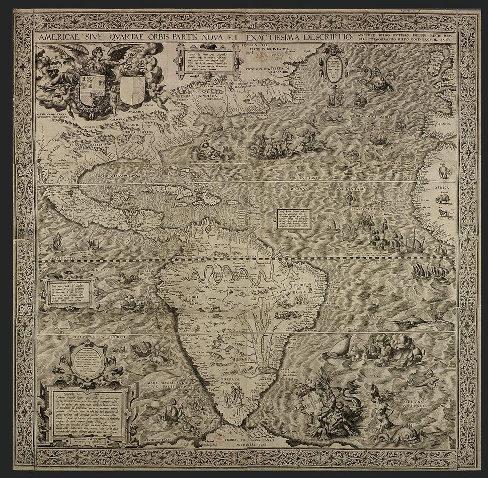 Gutiérrez, the Americas, 1562