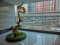 HK 觀塘道 378 Kwun Tong Road 創紀之城二期 Millennium City phase 2 sculpture view MTR line bridge April 2013.JPG