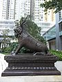 HK Wan Chai China Resources Building animal statue 01 Xiezhi Oct-2012.JPG