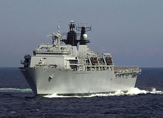 <i>Albion</i>-class landing platform dock type of amphibious warfare ship in service with the Royal Navy