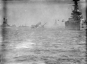 HMS Campania (1914) - Campania sinking, 5 November 1918