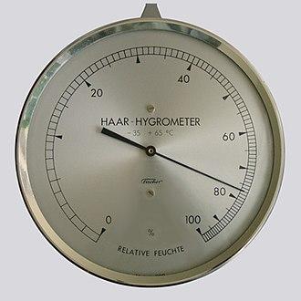 Hygrometer - Image: Haar Hygrometer