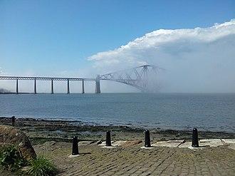 Haar (fog) - Image: Haar rolling in over the Forth Bridge