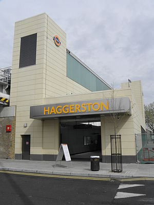 Haggerston railway station - Station building a day after opening in April 2010