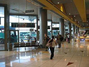 Carmel Beach Central Bus Station - The intercity platforms.