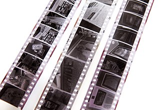 135 film - Half-frame negatives (left and right) with standard 35mm (centre)