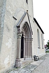 Fil:Hamra kyrka tornportal2.jpg