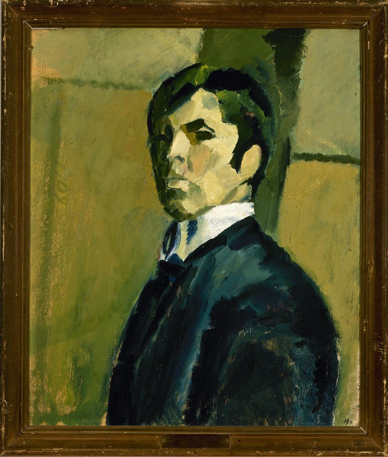 Harald Giersing, self-portrait (1915)