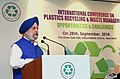 Hardeep Singh Puri delivering the inaugural address at the International Conference on Plastics Recycling & Waste Management Opportunities & Challenges, in New Delhi.JPG