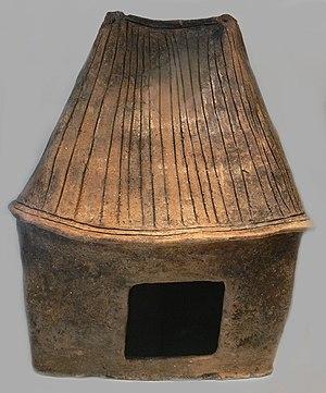 House Urns culture - House-shaped urn, 7th century BC, found in Sachsen-Anhalt