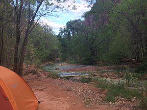 Havasu Falls - Image: Havasu Creek Campground
