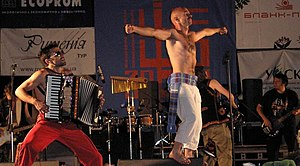 Rock music in Ukraine - Haydamaky on Sheshory Festival 2005.