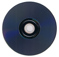 Reverse side of a HD DVD