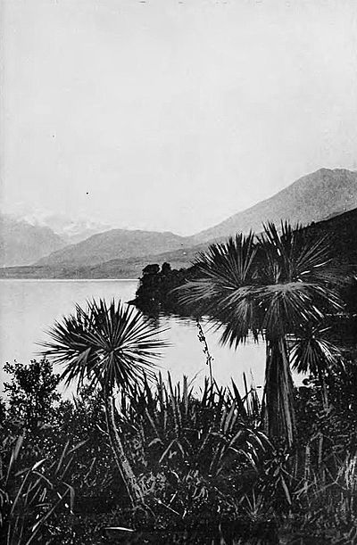 Head of lake wakatipu from pigeon island-Picturesque New Zealand, 1913.jpg
