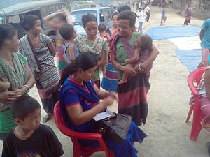 Dhalai district - Health check-up camp at Srinibash para, Dhalai, Tripura