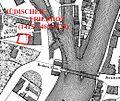 Heilbronn Stadtplan 1834, jüdischer Friedhof alt.jpg