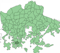 Position of Kamppi within Helsinki