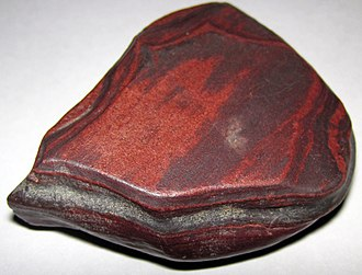 Trivial name - Red hematite-rich sample from a banded iron formation in Wyoming.