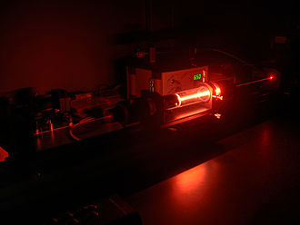 Helium–neon laser - Helium-Neon Laser at the University of Chemnitz, Germany