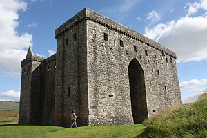 Clan Douglas - Hermitage Castle, which was captured by William Douglas, Lord of Liddesdale in 1338 and where Sir Alexander Ramsay of Dalhousie was starved to death in 1342