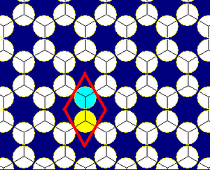 Circle packing - Image: Hexagonal tiling circle packing