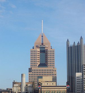English: Highmark Place from PNC Park in Pitts...