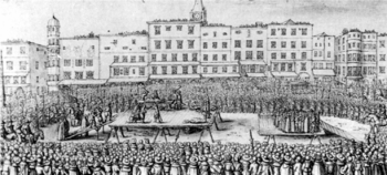 Wenzel Hollar: The execution of Martin Aichinger