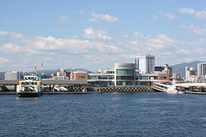 Hiroshima port and ferry terminal
