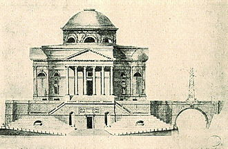Jakub Kubicki - Design for the Temple of Divine Providence in Warsaw (1792)
