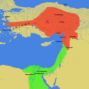 两个帝国接壤的卡迭石(Qadesh) via 维基百科
