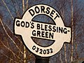 Holt, God's Blessing Green signpost detail - geograph.org.uk - 1741135.jpg