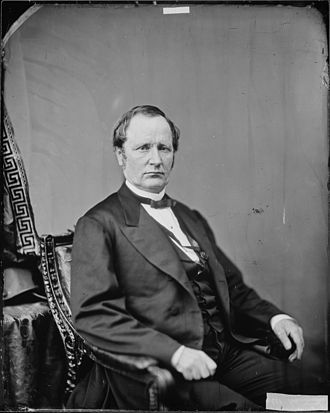 Thomas A. Hendricks - Photo of Sen. Thomas A. Hendricks (c. 1865)