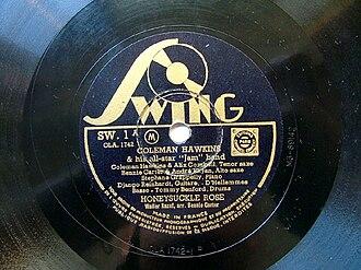 1937 in jazz - Honeysuckle Rose Django Reinhardt - Coleman Hawkins - Benny Carter - Paris session 1937