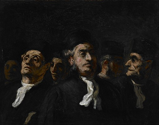 Honoré Daumier - A Meeting of Lawyers - Google Art Project
