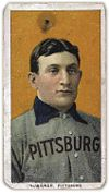 The T206 Honus Wagner baseball card