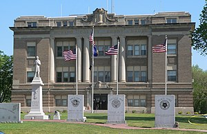 Howard County, Nebraska courthouse from S 1.JPG