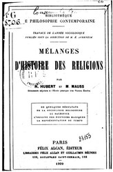 Mélanges d'histoire des religions
