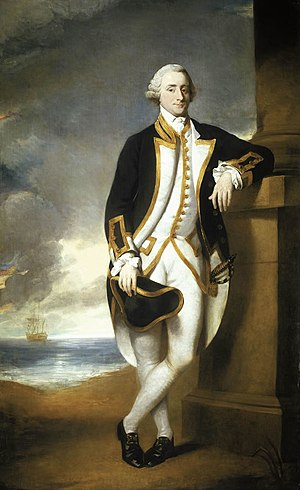 Hugh Palliser - Hugh Palliser, portrait by George Dance, c. 1775, National Maritime Museum, Greenwich